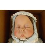 """Lee Middleton Doll Sleeping Infant Boy Baby Cherish Signed 22"""" 1987 #041... - $89.07"""