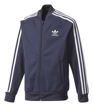 adidas Big Kids Superstar Track Jacket Legend Ink/White CF9760 - $35.33