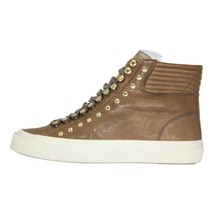 DIESEL S-Mustave MC Womens Fashion High Top Leather Sneaker Mushroom Size 6 - $132.99