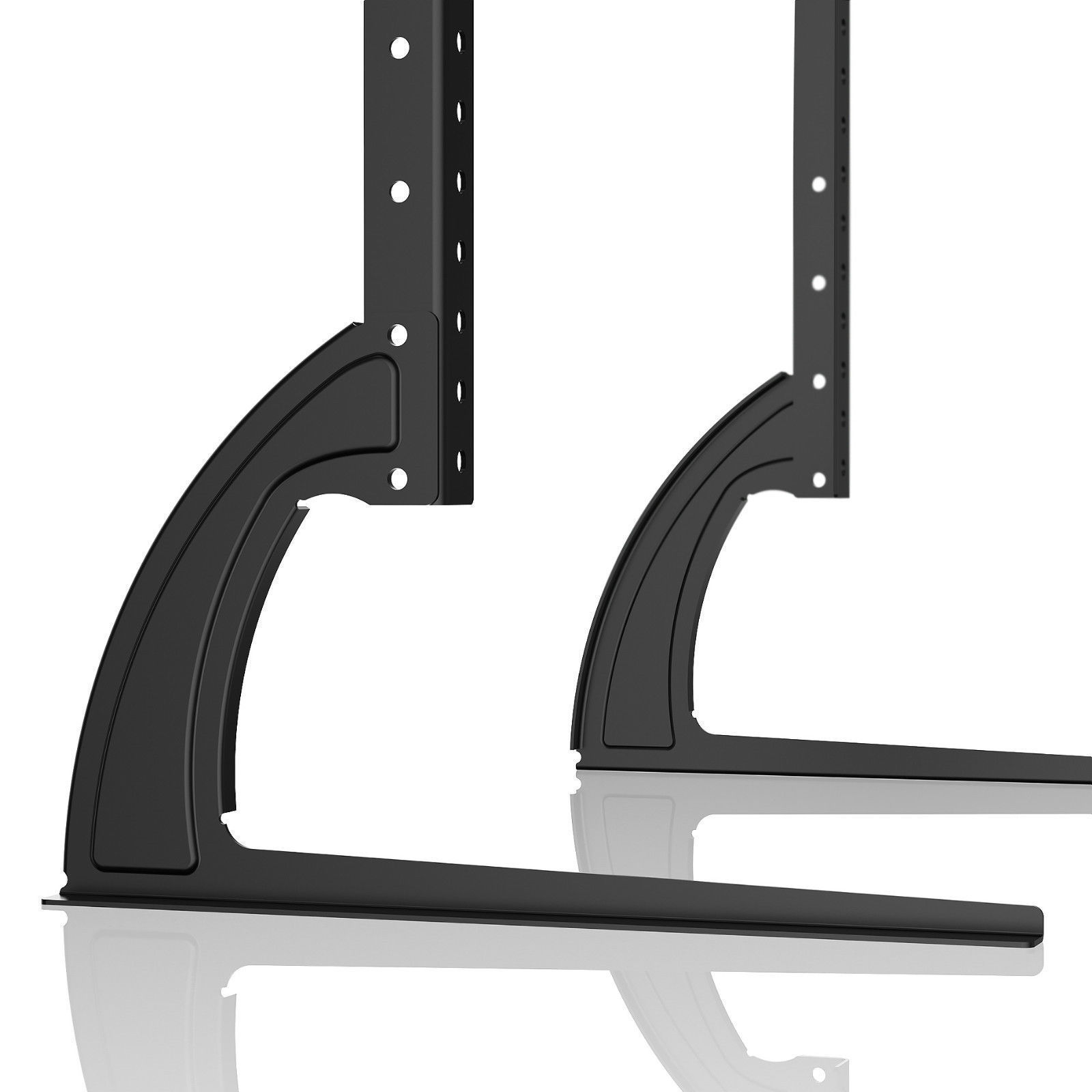 Universal Table Top TV Stand Legs for Vizio E420-B1 Height Adjustable