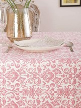 "Nice Chic French Country Pink Floral Patterned 52""x70"" 100% Cotton Table... - $39.95"
