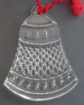 Waterford Fine Crystal 1993 Double Sided Bell Ornament w/ Box & Pouch 1990s - $22.76