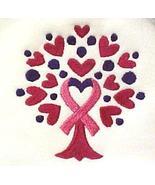 Pink Ribbon Hoodie 5XL Sweatshirt Heart Tree of Life White Breast Cancer... - $35.86