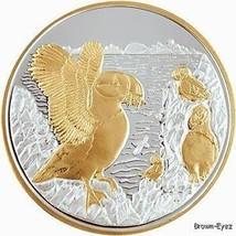 Alaska Mint PUFFIN BIRDS Silver Medallion Proof 1Oz - $103.83