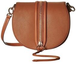 Rebecca Minkoff Mara Almond Brown Leather Saddle Cross Body Bag - $123.74