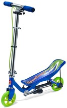 SpaceScooter Junior Ride On Blue   Push Board Pump Action Kids Scooter with - $124.76