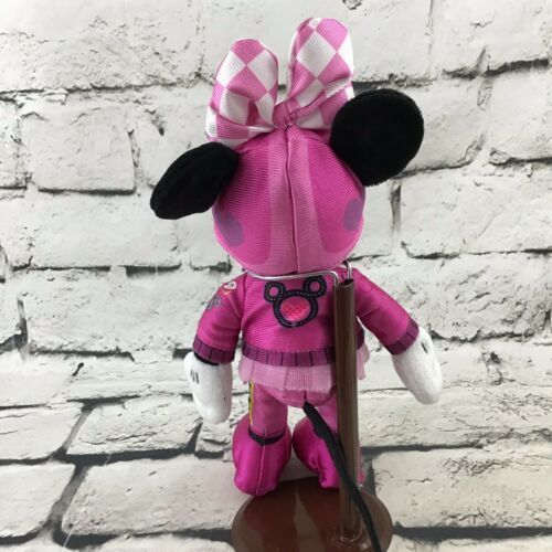 Disney Store Minnie Mouse Roadster Racer Plush Pink Outfit Soft Stuffed Doll Toy