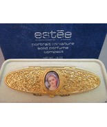 Estee Lauder Solid Perfume Portrait Miniature Victorian Cameo Filigree '... - $44.54