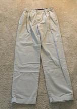 Vintage Tommy Hilfiger mens pleated cuffed khaki pants 32x34 slacks tan chino - $15.76