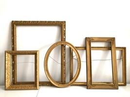 """Vtg Wood Picture Frames Gold Ornate Carved Large 21"""" Wall Hang Lot 5 - €107,66 EUR"""