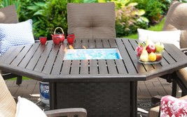 "OUTDOOR PATIO 71"" OCTAGONAL DINING FIRE TABLE - SERIES 4000 - $2,970.00"