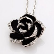 Cameo Rose SWAROVSKI Crystal 18k GP Necklace   - $17.32