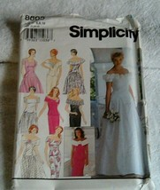 Simplicity Pattern #8865 Sizes 6 - 8 - 10 Bridesmaids and Bride Wedding ... - $9.41