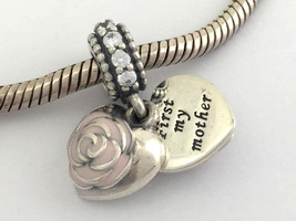 Authentic Pandora Mother's Rose Dangle Sterling Silver Charm Bead 791528... - $56.99