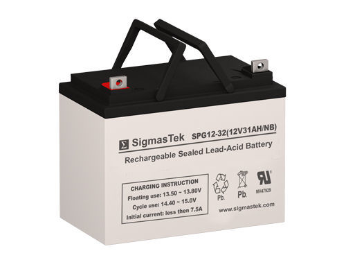 Replacement GEL Battery By SigmasTek for Power Rite PRB1233 12V 32AH NB