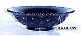 Imperial Glass Ebony Black Bowl, Heavy Block,  Diamond Block, Small Flared Bowl - $22.87