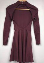Originale American Apparel Violette Vestito da Skater Porto Reale Burgundy XS image 6