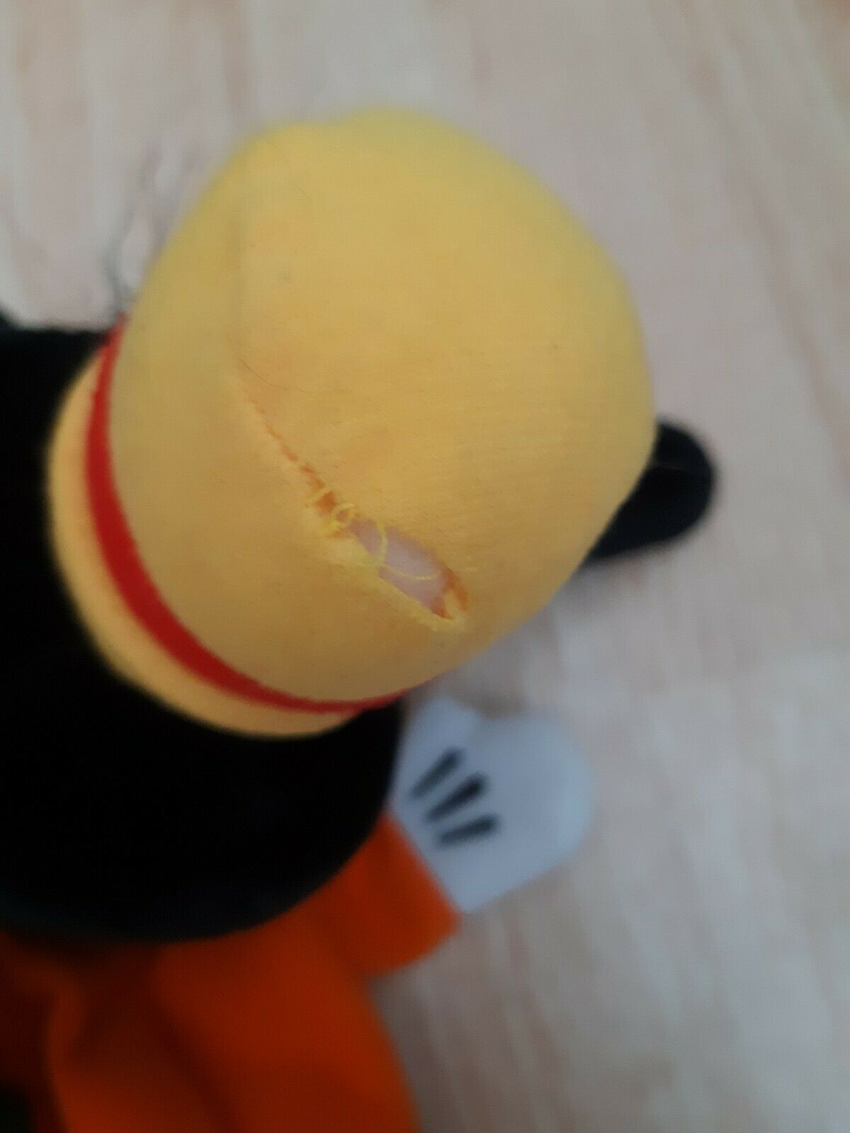 Vintage Disney Parks Goofy Hand Puppet Plush Stuffed Animal 80's 3D Head Toy