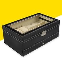 Joyero para almacenamiento y presentación - Negro aprox 33 x 20 x 13 cm ... - $84.04