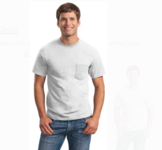 NEW 4 Men's Gildan Pocket Crew T-Shirts 4 Pack All Sizes Black Gray Cool... - $16.05