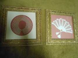 Beautiful Set of 2 Handmade CROCHETED Framed Pictures-Outstanding Frames... - $11.88