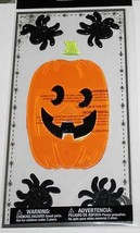 Halloween   **BIG JACK O' LANTERN**   Gel Clings    NIP - $3.75