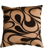 "Pillow Decor - Dramatic Swirls Gold 19"" Square Decorative Pillow - $39.95"