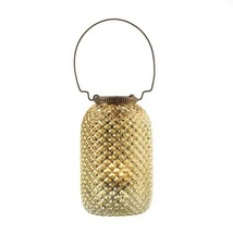 TALL DIAMOND CANDLE LANTERN - $16.24