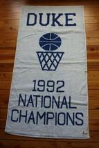 NWD Duke University 1992 National Basketball Champions Fieldcrest Cannon Towel - $90.25
