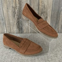 "American Eagle Loafers Women's 9 Brown Faux Suede ""Penny Loafers"" Flats Comfort - $12.86"