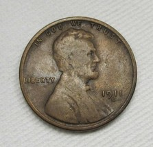 1911-S Lincoln Wheat Cent VG Coin AF448 - $34.76