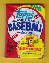 1988 Topps Baseball Wax Pack 15 Cards - $4.98
