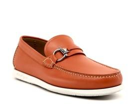 Salvatore Ferragamo Loafers Lorien Gancini Orange Leather Size 8.5 EE New - $331.65