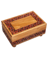 Polish Handmade Wooden Box Secret Opening Jewelry Box Secret Trick Keeps... - $44.54