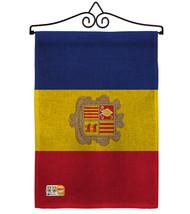 Andorra Burlap - Impressions Decorative Metal Wall Hanger Garden Flag Se... - $33.97