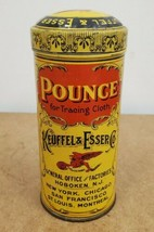 "ANTIQUE KEUFFEL & ESSER CO. POUNCE FOR TRACING CLOTH TIN CAN ""FULL"" - $34.65"