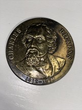 VINTAGE CHARLES DICKENS COMMEMORATIVE MEDAL OR COIN 1812-1870 ENGLAND - $9.49