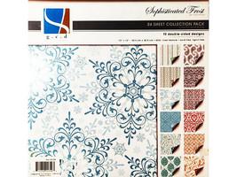 "GCD Studios Sophisticated Frost 12x12"" Cardstock Paper Pad, 65# Linen Texture"