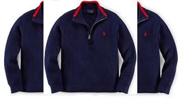 Ralph Lauren Little Boys' french Rib Half-zip Pullover, French Navy, Size 6 - $49.49
