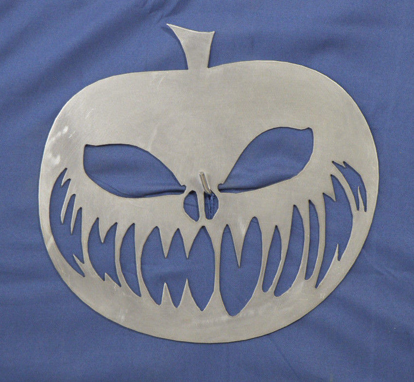 SCARY PUMPKIN HOLWOWEEN DECORATION STEEL HOME WORK OFFICE DECOR WALL ART SIGN - $16.95
