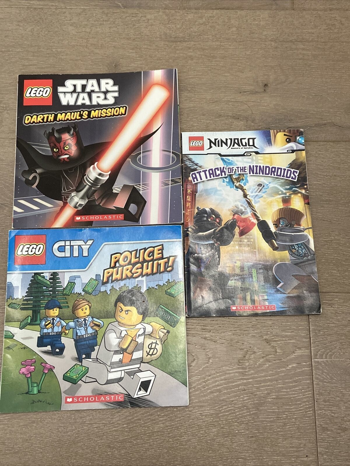 Primary image for Scholastic LEGO Lot: Ninjago: Attack of Nindroids, Darth Haul's Mission, Police