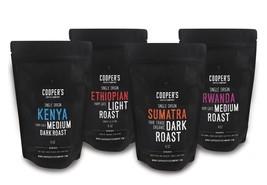 Cooper's Cask Whole B EAN 4 Bag Gift Box Set Single Origin Gourmet Coffee - $30.81