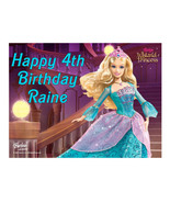 Barbie edible cake image party decoration cake topper sheet - $8.86
