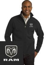 DODGE RAM Black Embroidered Port Authority Core Soft Shell Jacket J317 - $39.99