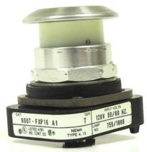 ALLEN BRADLEY 800T-FXP16 A1 PUSHBUTTON W/ WHITE CAP LAMP 755/1866, SER. T image 2