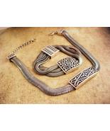 Black Etruscan style serpentine necklace set - Gothic snake Bracelet - V... - $145.00