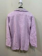Storybook Knits Lavender Zip Up Cardigan Sweater Plus Size 1X Gems HSN image 2