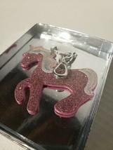 Eccolo Pink Horse Glitter Keychain New - $8.99