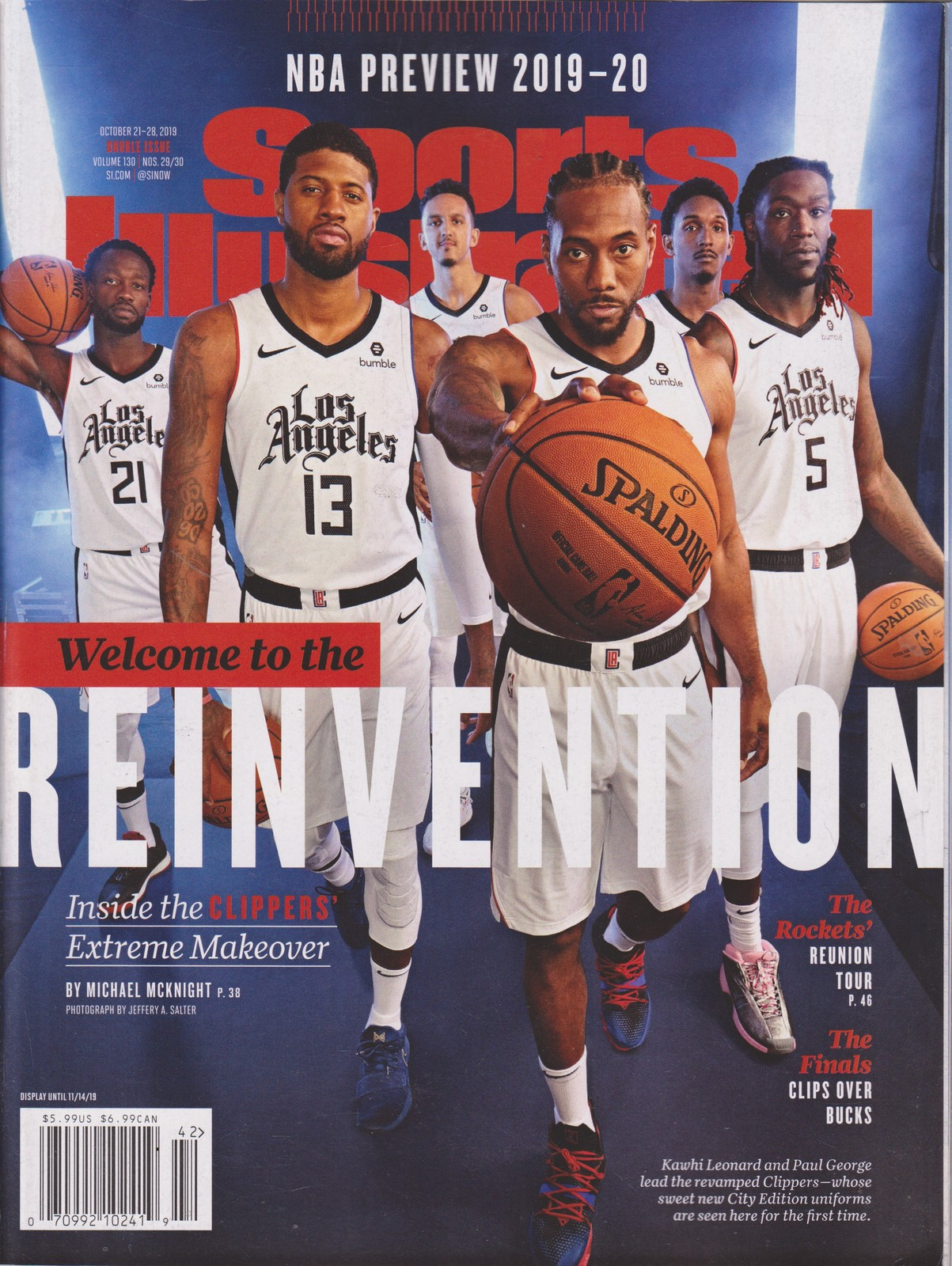 Primary image for Sports Illustrated Magazine Welcome to the Reinvention Magazine Oct 20/28 2019
