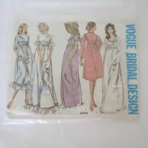 1970's VTG VOGUE Bridal Design Dress Pattern 2448 UNCUT 32 bust - $23.76